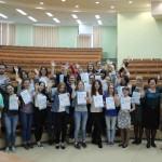 Вручение сертификатов волонтерам (май 2016 г.)